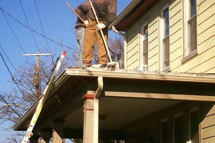 Roofing project in Hershey PA.